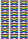Straight Ally Flag Stickers - 21 per sheet